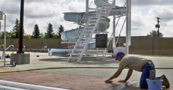 Pool deck resurfacing Austin